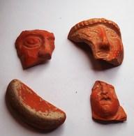 Lot De 3 Tesson Et D'un Rare Polissoir Romains - Archéologie