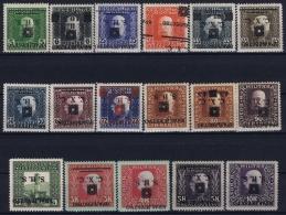 Yugoslavia Mi 33 - 50 Part Set Postfrisch/neuf Sans Charniere /MNH/**  Kopfstehenede  Aufdrücken - 1919-1929 Regno Dei Serbi, Croati E Sloveni