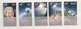 Nauru Scott# 598-602 SG# 690-694  2011 Russia's Space Progra Mnh - Nauru