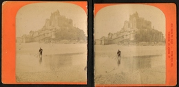 Stereoview Photographs / Stereoview Card / France / Mont Saint-Michel / Vue Générale / Côté Du Nord-est / Broken - Stereoscoopen