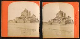 Stereoview Photographs / Stereoview Card / France / Mont Saint-Michel / Vue Générale / Côté Du Nord-est / Broken - Visionneuses Stéréoscopiques