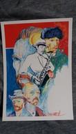 CPM ILLUSTRATEUR J CORREA ANNEE VAN GOGH V 95 ENGHIEN LES BAINS MUSICIEN DE JAZZ PEINTRE 24/ 500 1990 - Illustratoren & Fotografen