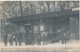 LA SUZE - Carte Photo - Intérieur De La Gare - La Suze Sur Sarthe