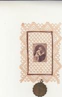 Medaglietta Devozionale Madonna Di Loreto Con Al Retro Santa Casa Di Loreto + Santino Periodo 1700 - 1800 - Altri