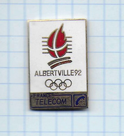 Pin's Pins / THEME Communication FRANCE TELECOM / Alberville 1992 - Jeux Olympiques - Telecom De Francia