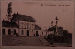 Fontaine-L'Evêque La Gare Et Le Monument - Fontaine-l'Evêque