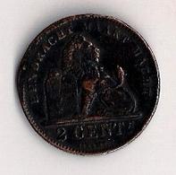 BELGIE - 2 CENT - ALBERT Ier -1911  - EENDRACHT MAAKT MACHT. - 1909-1934: Albert I