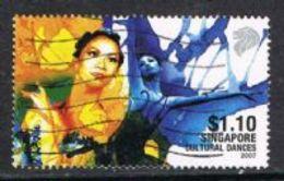 Singapore 2007 Cultural Dances $1.10 Good/fine Used [15/14427/ND] - Singapore (1959-...)