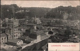 ! Alte Ansichtskarte Luxemburg Luxembourg, Faubourg De Clausen, Fabrik - Luxemburg - Town