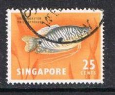 Singapore SG72 1963 Definitive 25c Good/fine Used [15/14428/2D] - Singapore (1959-...)