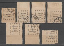 LITUANIE:  N°11/17 Oblitérés      - Cote 24€ - - Lituanie