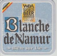 (117) SOUS BOCKS . CARTON DUR . POSAVASOS . BIERE. BIER. BLANCHE DE NAMUR - Bierviltjes