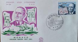 FDC  MONACO -  1974 - YT N°960 - GUGLIELMO MARCONI - FDC