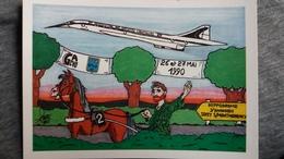 CPM ILLUSTRATEUR FAURE ANNEE VAN GOGH  V 95 ENGHIEN CHEVAL HIPPODROME AVION CONCORDE ?  1004/ 2500 1990 - Illustratoren & Fotografen