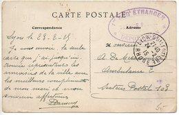 Légion étrangère - Cachet '1er REGt Etranger * Dépôt De Lyon *' - 1. Weltkrieg 1914-1918