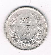20 LEVA 1930 BULGARIJE /6559/ - Bulgaria