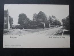 CP BELGIQUE (M1818) WAREMME (2 VUES) Arrêt Vicinal Rue De Liège - Borgworm