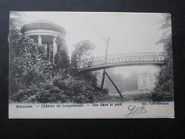 CP BELGIQUE (M1818) WAREMME (2 VUES) Château De Longchamps - Vue Dans Le Parc 1909 - Waremme