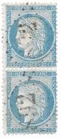 TIMBRES N° 60/1 ;  PAIRE VERTICALE 80/90 B2 ,   TTB - 1871-1875 Cérès