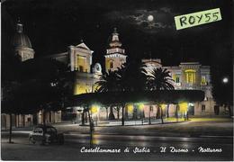 Campania-napoli-castellammare Di Stabia Veduta Notturna Duomo Piazza Anni 50/60 - Castellammare Di Stabia