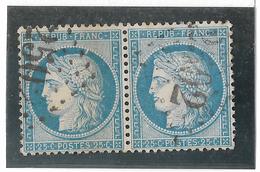 TIMBRES N° 60/1 ;  PAIRE 101/102  B2  TRÉS BIEN CENTRÉS  ,   TTB - 1871-1875 Cérès