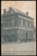 MOLL ( STATION ) HOTEL DU COMMERCE  - CAFE RESTAURANT -- ACHTERAAN DE ZEGEL BESCHADIGD - Mol