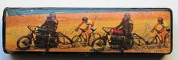 Beau Plumier Ancien D'écolier Cyclisme Sur Piste Demi-fond Moto De Stayer Cyliste Course Sur Piste - Federn