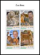NIGER 2018 MNH** Lions Löwen M/S - IMPERFORATED - DH1839 - Raubkatzen