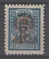 LITUANIE:  N°257 * (AVEC Filig.)      - Cote 135€ - - Lithuania