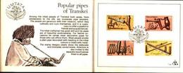 72492)  Transkei 1978 POPULAR PIPES TIMBRO SET Sulla Cartella Carta Primo Giorno-fdc - Transkei