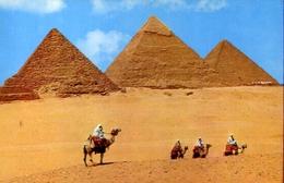 Giza - Kheops - Khephren And Mykerinos Pyramids - Formato Grande Viaggiata – E 7 - Gizeh