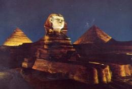 Giza - Sphinx And Pyramide  - Son Et Lumiere - 516 - Formato Grande Non Viaggiata – E 7 - Gizeh
