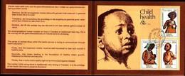 72493)  Transkei 1979 FDC MiNr 62 - 64 Bambini Salute Child Health TIMBRO SET Sulla Cartella Carta Primo Giorno- - Transkei