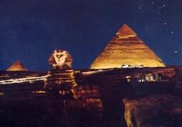 Giza - Sphinx And Pyramide  - Son Et Lumiere - Formato Grande Non Viaggiata – E 7 - Gizeh