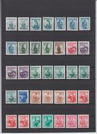 Österreich 1948-1950 - Trachten Sammlung Mit Verschiedenen Papiersorten, Gummierung Etc. - 1945-60 Nuovi & Linguelle