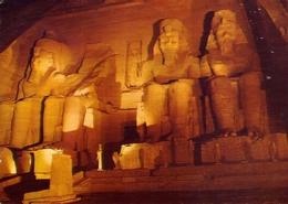 Abu - Simbel Temple - Illuminated By Night - Formato Grande Viaggiata Mancante Di Affrancatura – E 7 - Abu Simbel