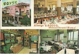 Lazio-roma-montelibretti  Via Roma Vedute Interno Esterno Albergo S.rocco Bar Ristorante (v.retro) - Italy