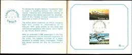 72495)  TRANSKEI 1977 AVIAZIONE/piani/Aeromobile/Compagnia Aerea/Aeroporto TIMBRO SET Sulla Cartella Carta Primo Giorno- - Transkei