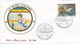 ITALIA - FDC ROMA LUXOR 1992 - ATLETICA LEGGERA - SPORT - 6. 1946-.. Repubblica