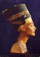 Painted Limestone Bust Of Queen Nefertiti - Formato Grande Viaggiata – E 7 - Cartoline
