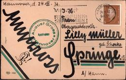 ! Alte Ansichtskarte 1932, Hannover, Studentika, Burschenschaft - Schools