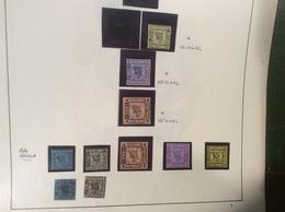 1861 1 1/2, 3, 4S ORIGINALE * + 7 Stück ND  Michel 3,4,5 (Altdeutschland Bergedorf - Bergedorf