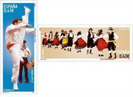 ESPAÑA 2009 - BAILES Y DANZAS POPULARES - La Rueda Y El Aurresku. - Edifil Nº 4492-4493 - 1931-Oggi: 2. Rep. - ... Juan Carlos I
