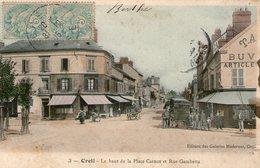 (75) CPA Creil  Le Haut De La Place Carnot (Bon état) - Creil
