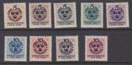 Sweden 1916 - Michel 86-92, 94-95 Mint Hinged * - Suède