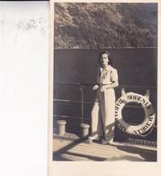 VINTAGE PHOTO ON POSTCARD, BARILOCHE, MODESTA VICTORIA, FEMME CIRCA 1950s-ARGENTINE - BLEUP - Argentinië