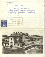 CARTE-LETTRE DE HENDAYE  (PYRENEES ATLANTIQUES)  COLONIE S.N.C.F. DE HAICABIA - Hendaye