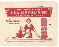 "Buvard / Chicorée ""A La Ménagère"" DUROYON & RAMETTE / Nord CAMBRAI - Coffee & Tea"