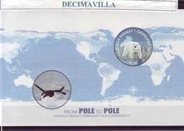 L530, GRONLAND, GROENLANDIA, OSO POLAR, PINGÜINO, DE POLO A POLO, 2014, MI 70 - Filatelia Polar