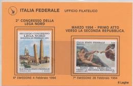 Lega Nord Italia Federale 6\7 Emissione 1994 - 6. 1946-.. Republic
